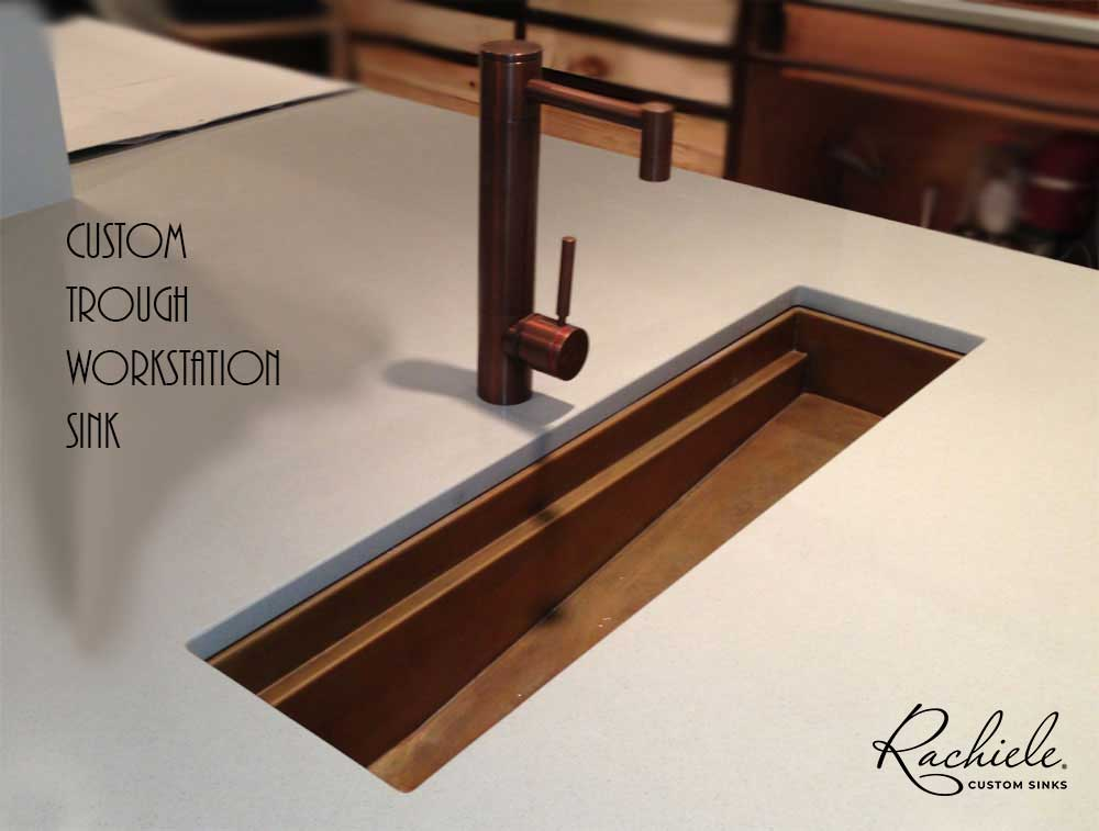 This Is A Gorgeous Signature Series Workstation Trough Sink With An  Interior Ledge To Place A Cutting Board Or A Copper Grid. This Sink  Featured A Very ...