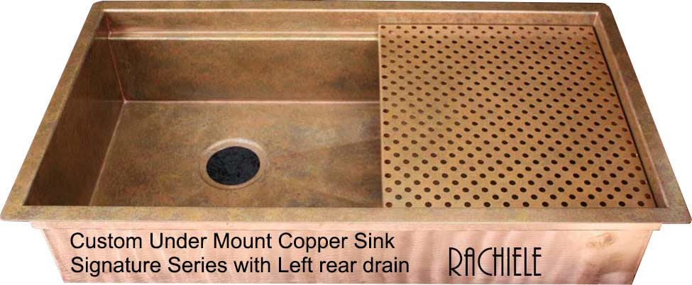 custom copper sink - under mount copper sink made in the usa