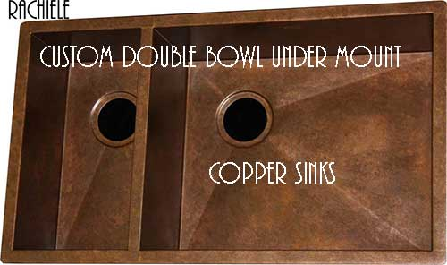 custom double bowl copper custom sink made in the usa
