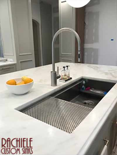 custom stainless steel kitchen sink