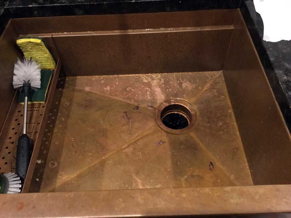Rachiele copper sinks require no maintenance for Rachiele sink complaints