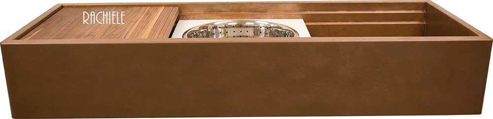 Workstation sink: Copper workstation 48 inch farmsink