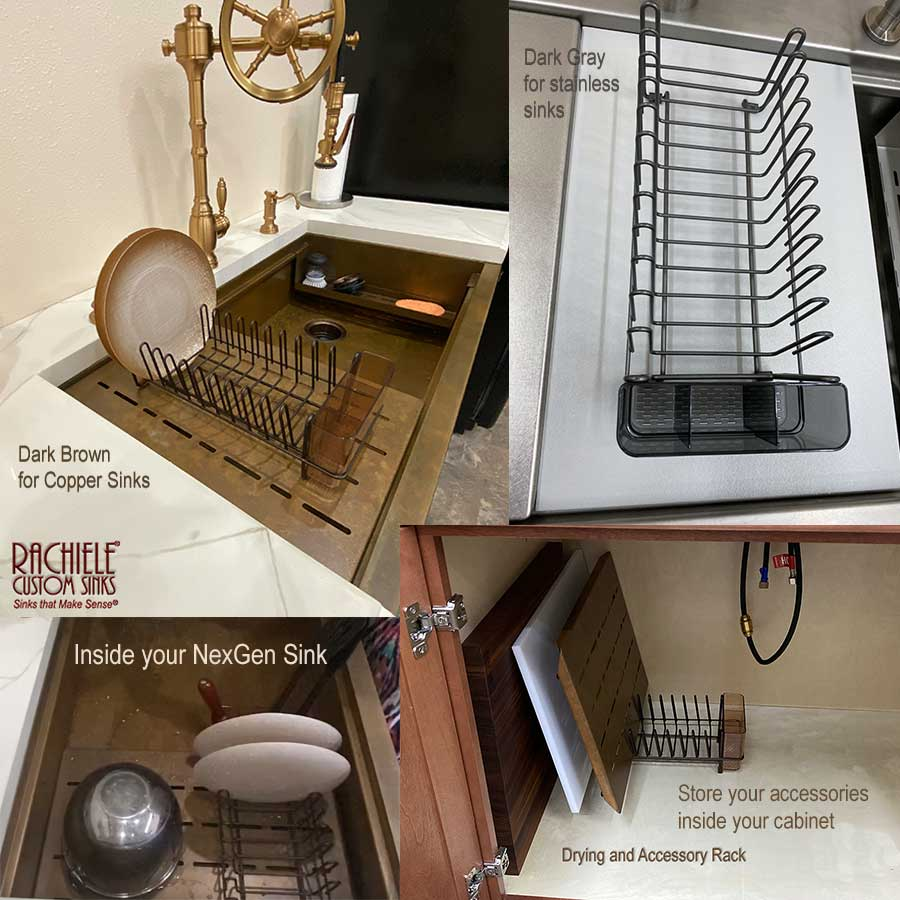 dish rack and accessory storage by Rachiele