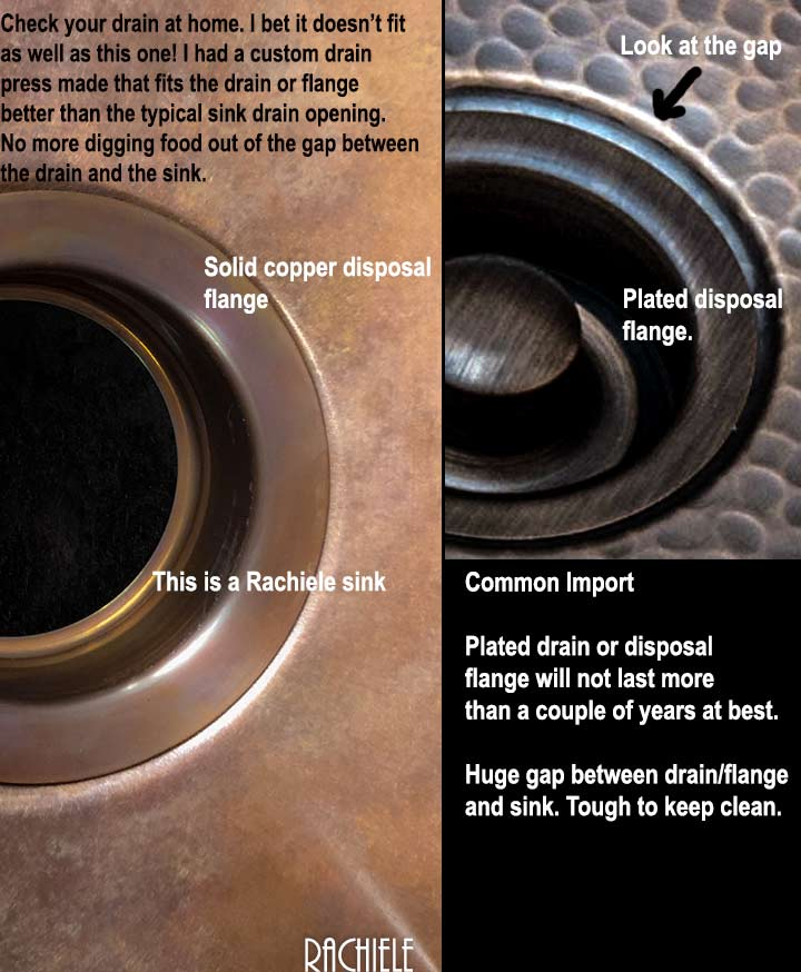 Invest In Solid Copper. Copper Drain