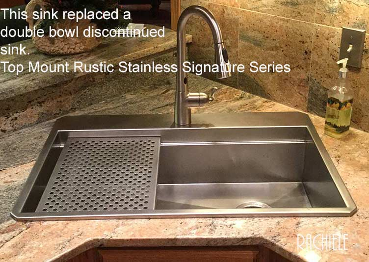Discontinued Sinks: Custom Stainless Steel Top Mount