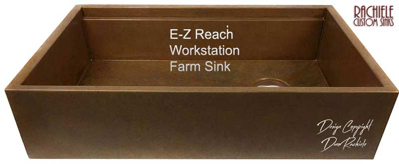 Easy reach copper farmhouse sink