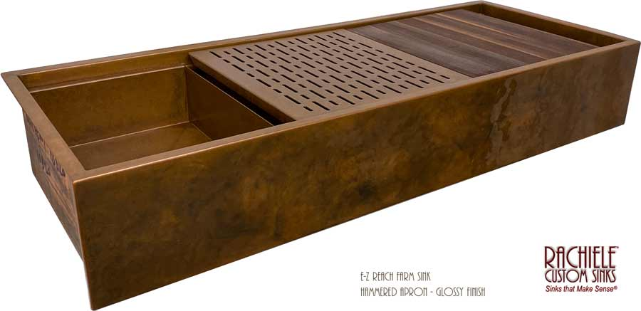 48 inch hammered copper farm sink