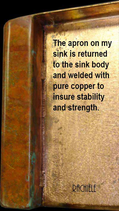 close up photo of a copper sink detail