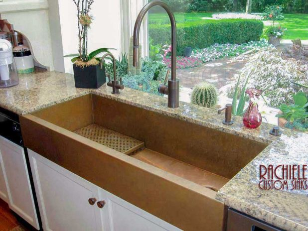 48 inch large copper farmhouse sink
