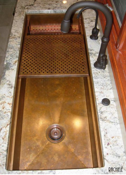 48 inch copper under mount workstation sink