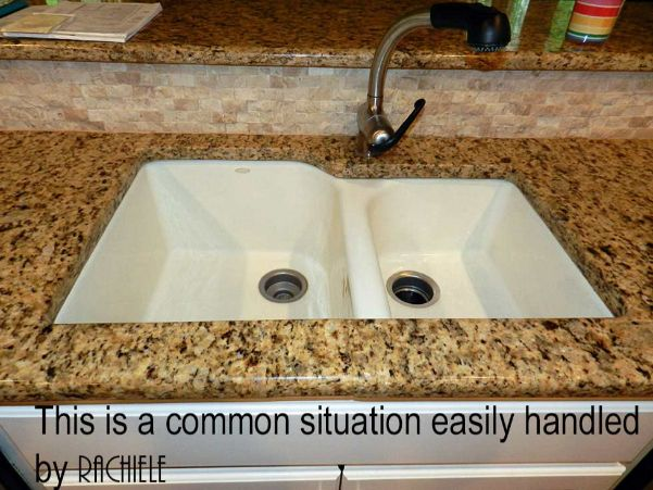 before photo of a discontinued sink