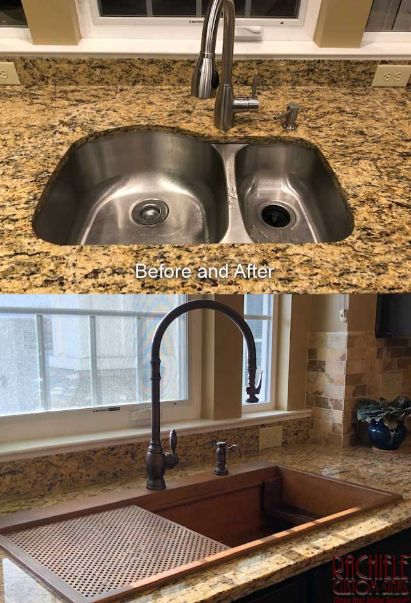 before and after sink replacement