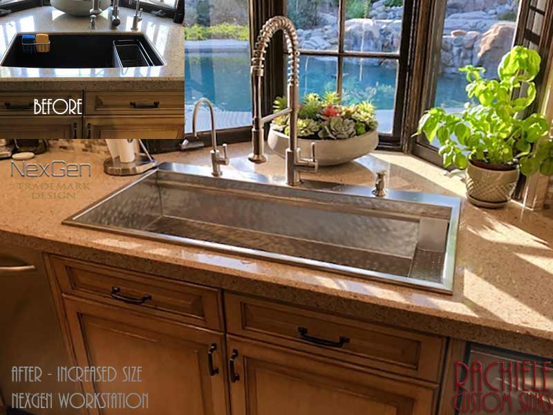 We replaced a discontinued sink with a much larger NexGen Workstation Stainless Top Mount Sink