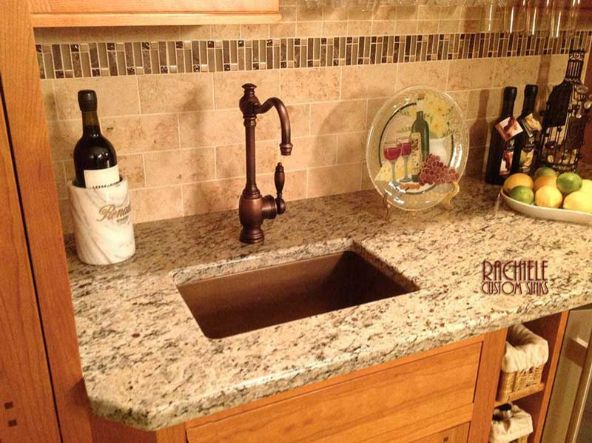 Copper Bar Sink Rectangle Shape