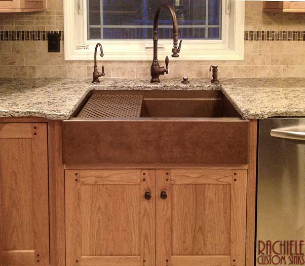 copper farmhouse workstation sink by Rachiele