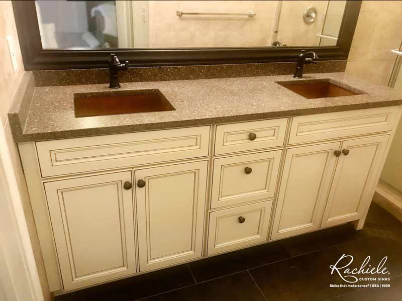 copper farmhouse sink with waterstone faucet copper bar sink