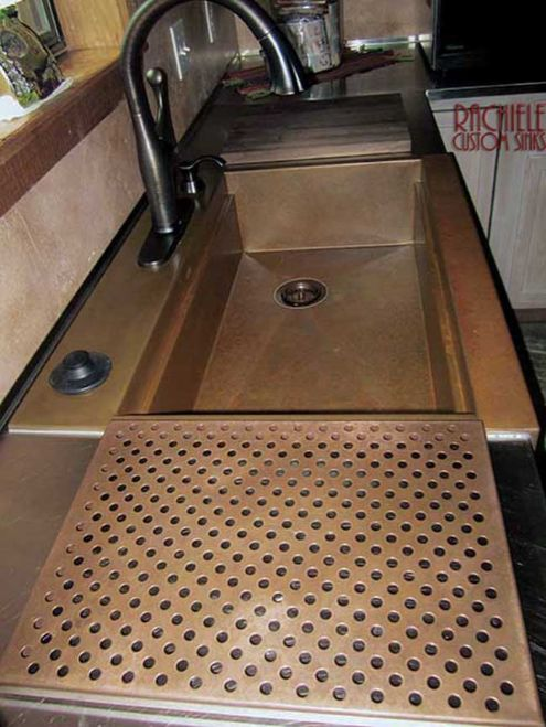 copper workstation sink