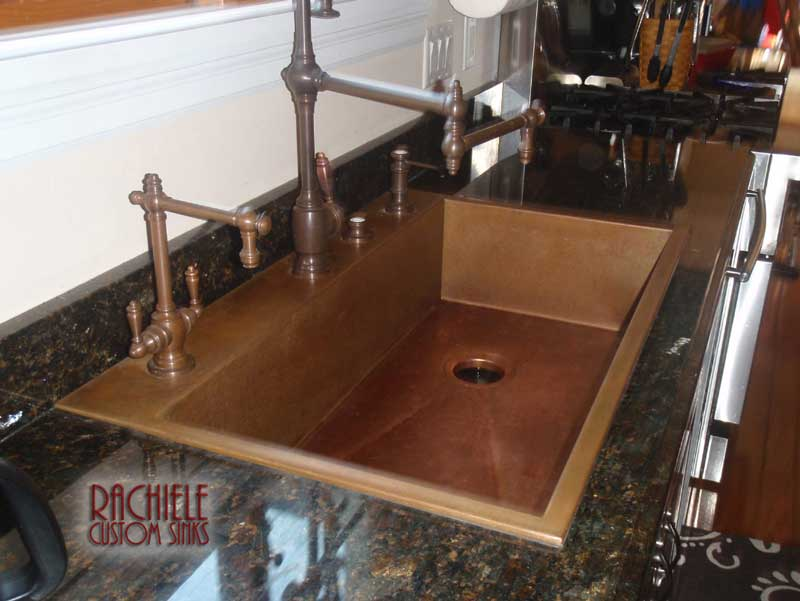 copper top mount replacement sink