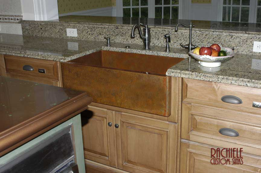copper sink as seen on HGTV