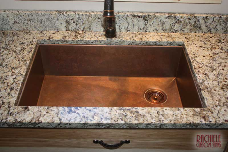 Undermount Bathroom Sink With Granite hundreds of photos of copper sinks installed in kitchens