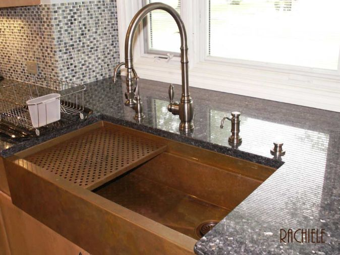 custom kitchen sink hundreds of photos of copper sinks installed in kitchens 3064