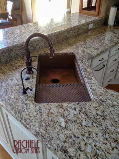 custom copper workstation sinks