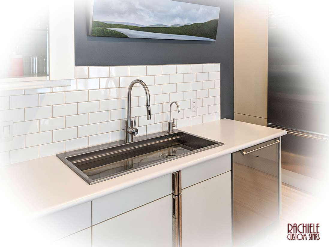Drop in retrofit Rustic Matte Stainless Sink