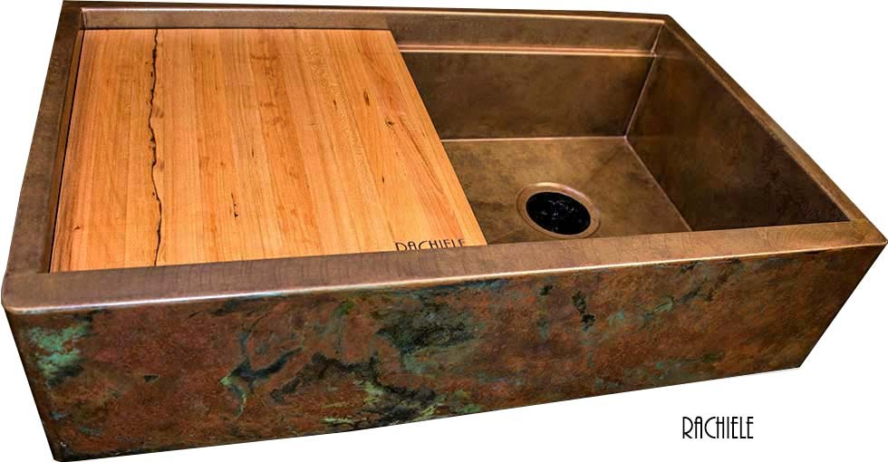 Rustic Copper Patina Choices For Copper Apron Front Sinks