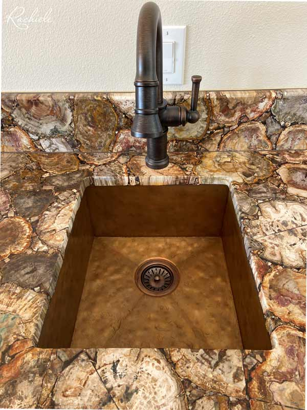 hammered copper bar sink rachiele