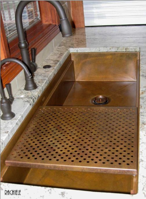 huge under mount copper workstation sink
