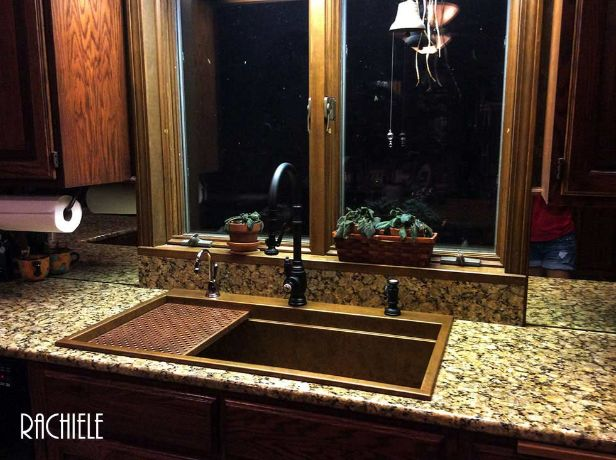 replacing a kohler sink with a copper rachiele sink