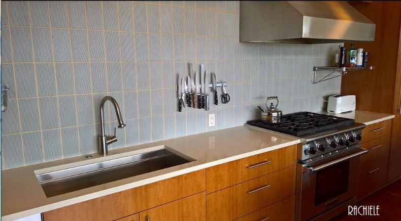 large stainless steel under mount workstation sink