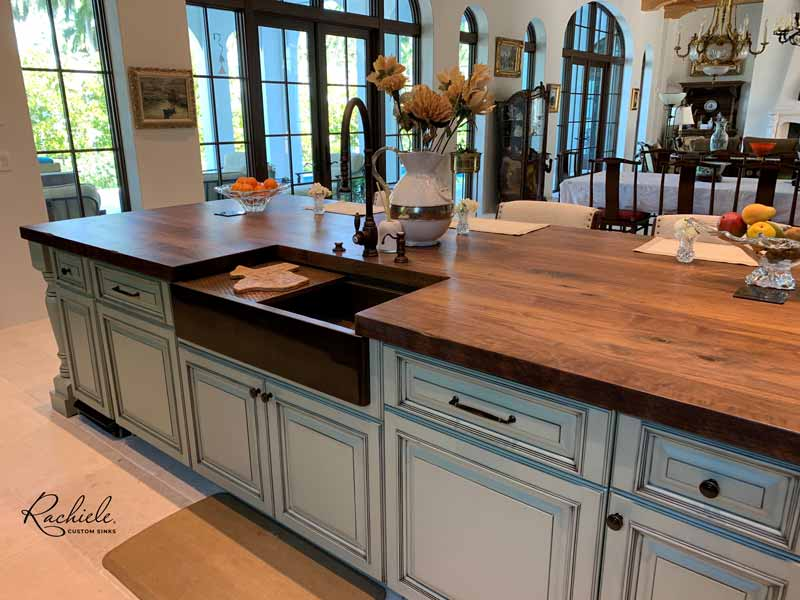 luxury kitchen with Rachiele farm sink