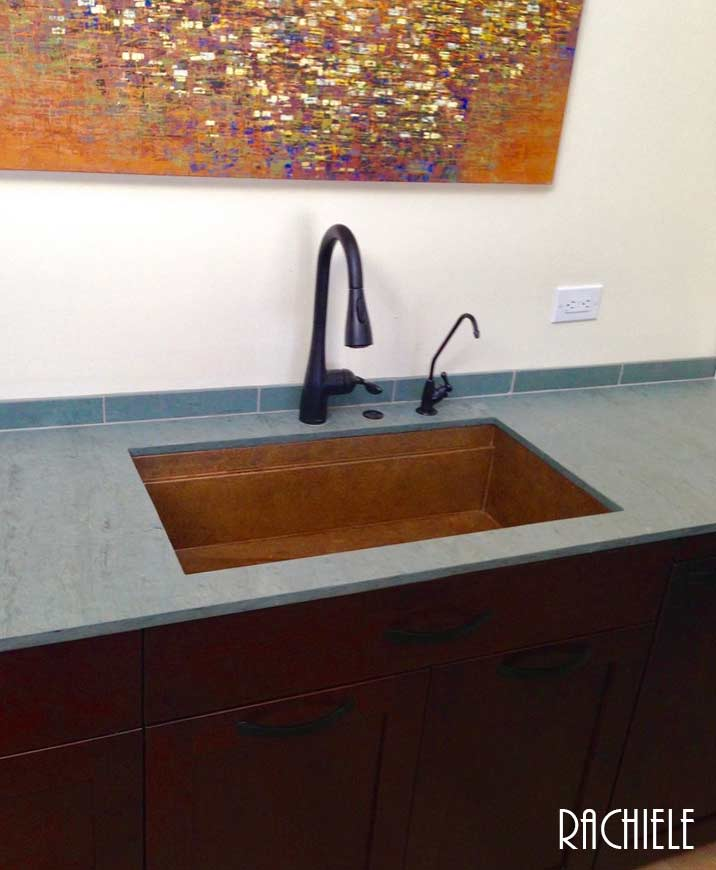 3 year old copper sink with no maintenance required