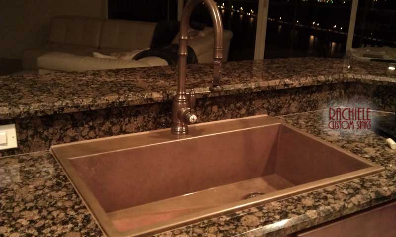 copper replacement top mount sink