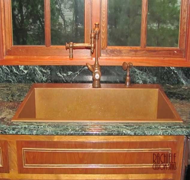replacement top mount copper sink