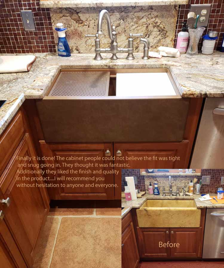replace a stone sink