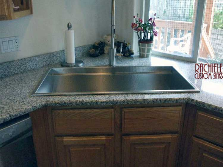 stainless steel top mount replacement sink