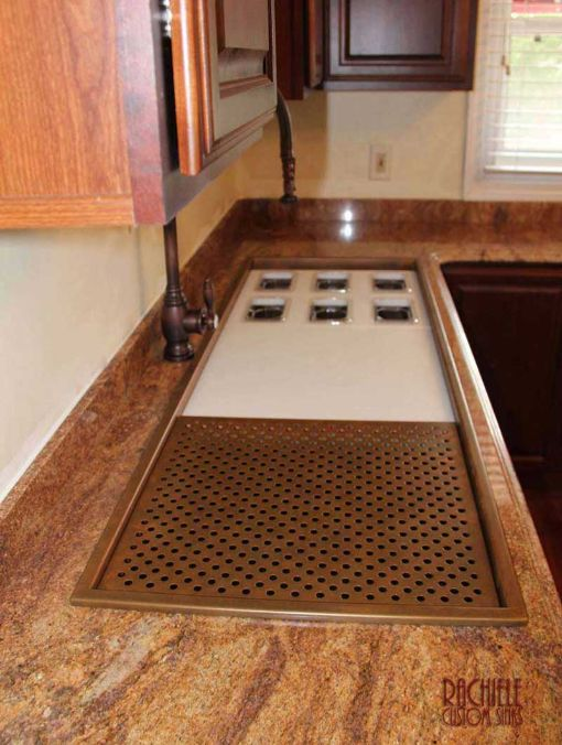 Ultimate two tier copper workstation sink