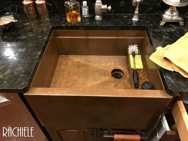 photo of used copper sink