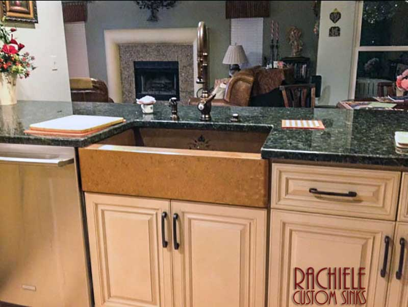 used rachiele copper sink retains value