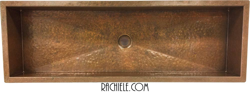 round copper lavatory sink