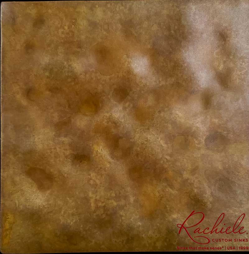 hammered copper sample by Rachiele Custom Sinks