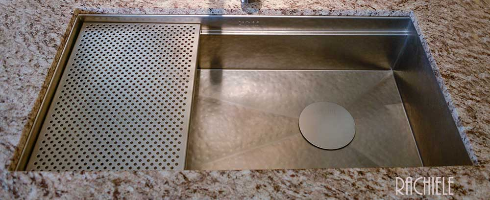 stainless undermount kitchen sink with left rear drain