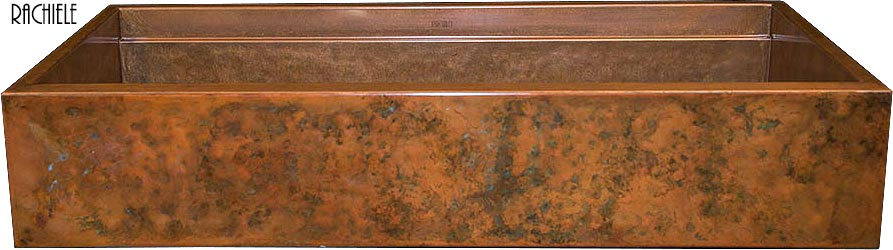 hammered rustic copper farmhouse sink