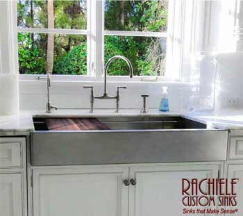 huge stainless steel farmhouse sink