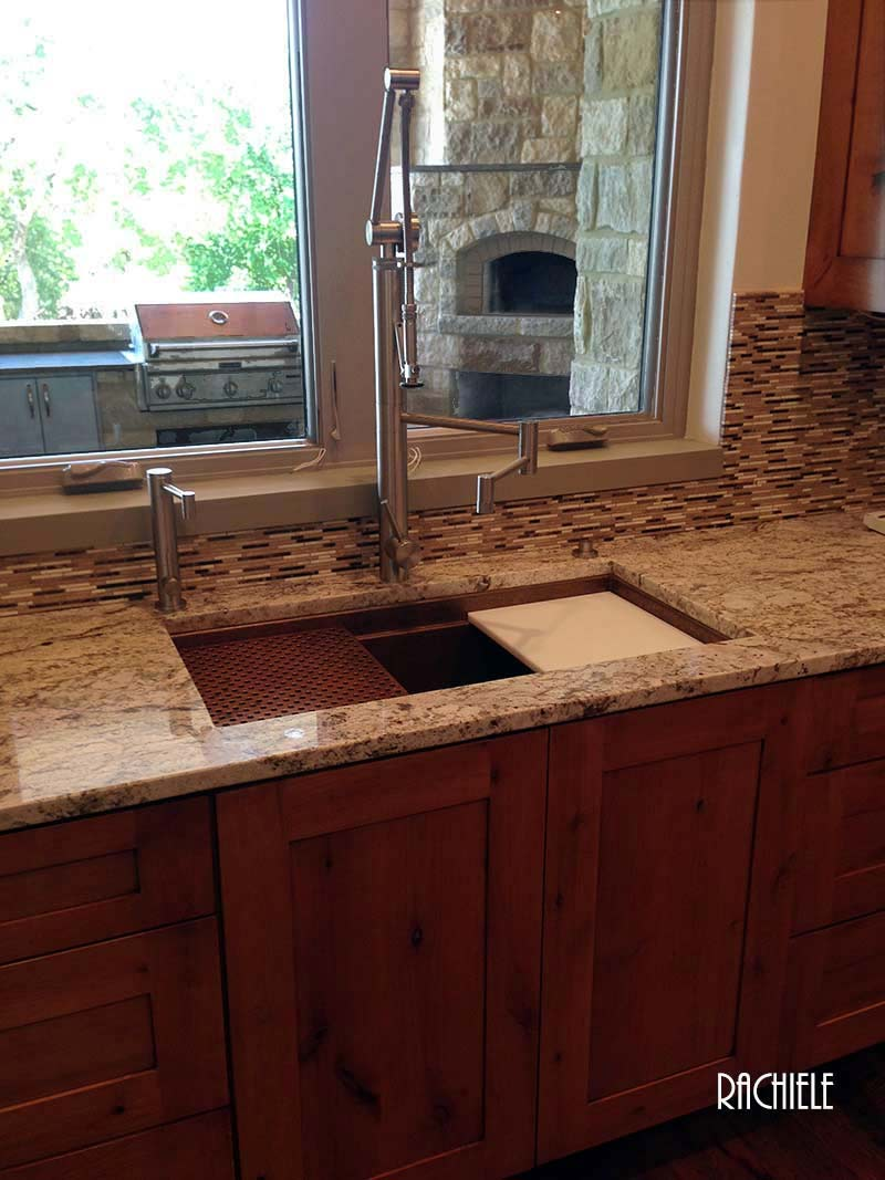 Copper Under Mount And Trough Kitchen Sinks By Rachiele
