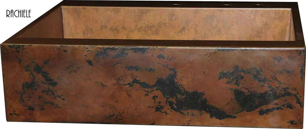 custom copper farm house sink