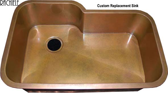 custom retrofit copper sink to replace existing sink