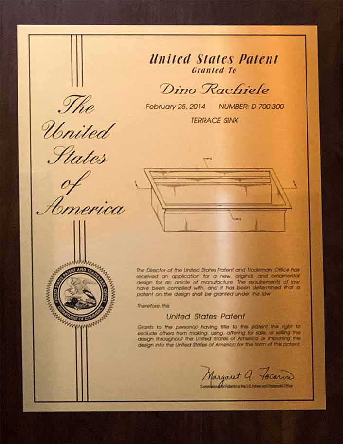 patent on dual tier kitchen sink